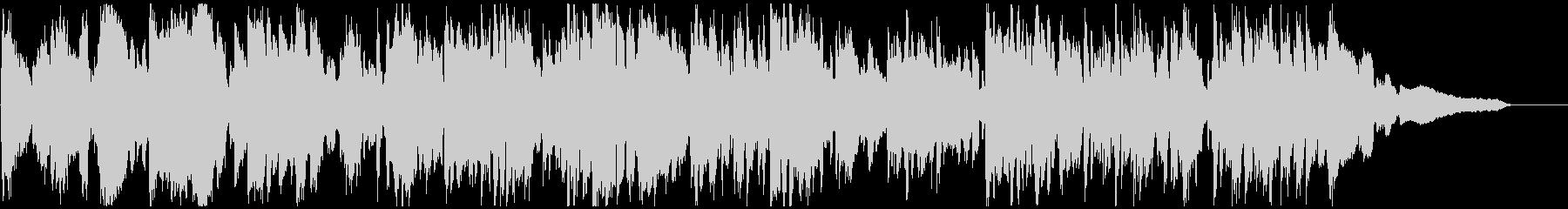 テンポ早め、わくわくするジャズ※60秒版の未再生の波形
