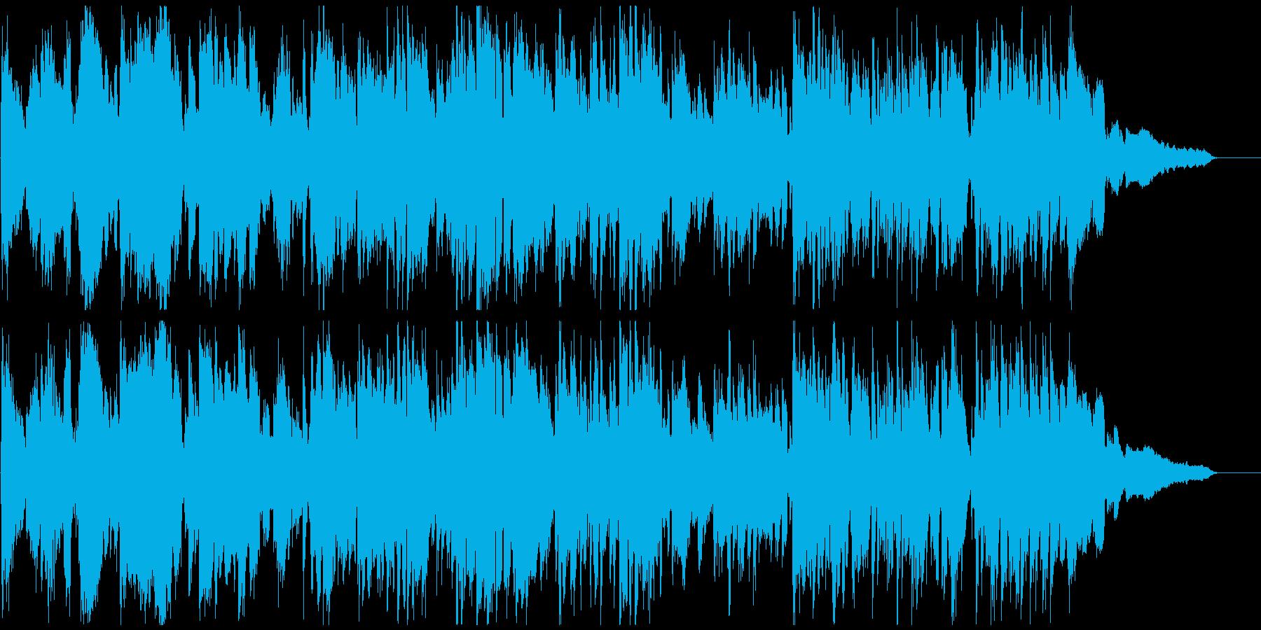 テンポ早め、わくわくするジャズ※60秒版の再生済みの波形