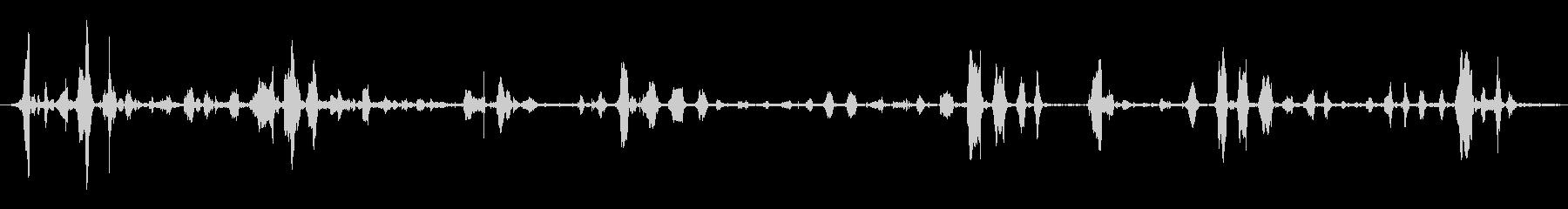 高音のヒゲと喘ぎの未再生の波形