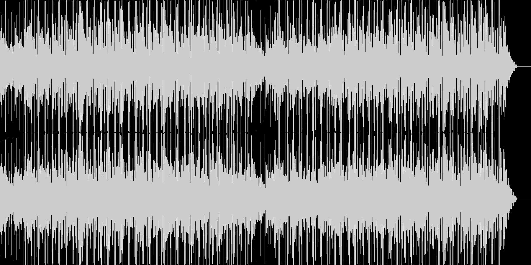 シンプルでクリーンな印象の解説向けBGMの未再生の波形