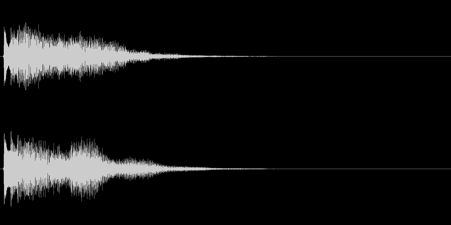 キラキラしたベルの下降音5の未再生の波形