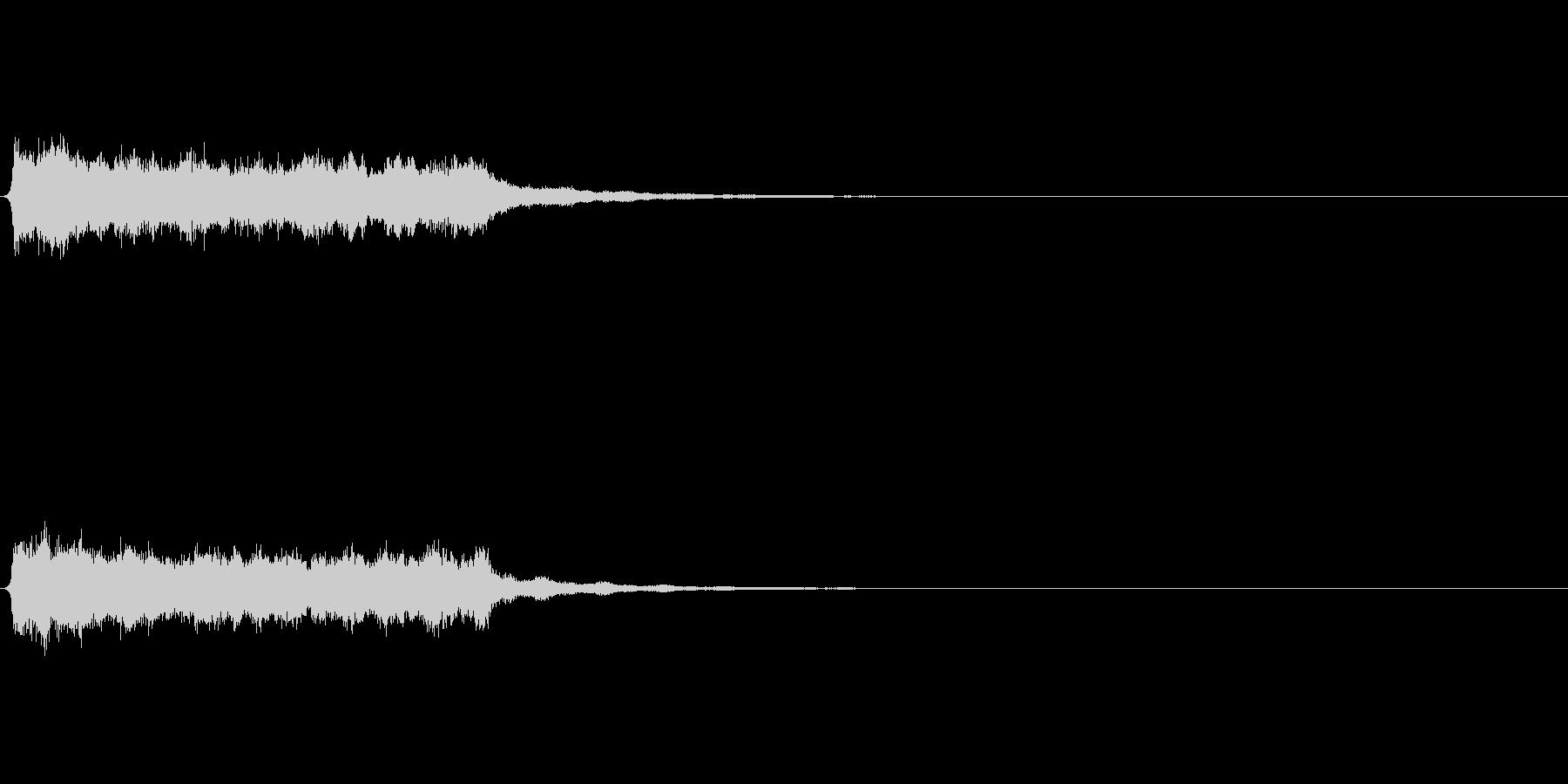 シンセ ロングトーン 幻想的の未再生の波形