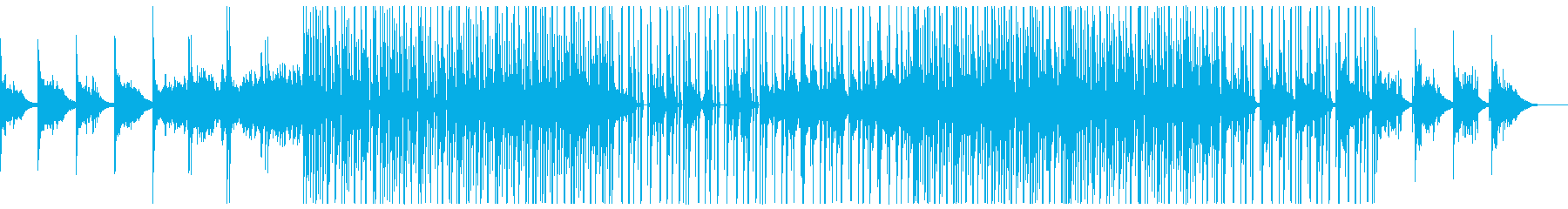 ダークなエレクトロBGM(ベース抜きの再生済みの波形
