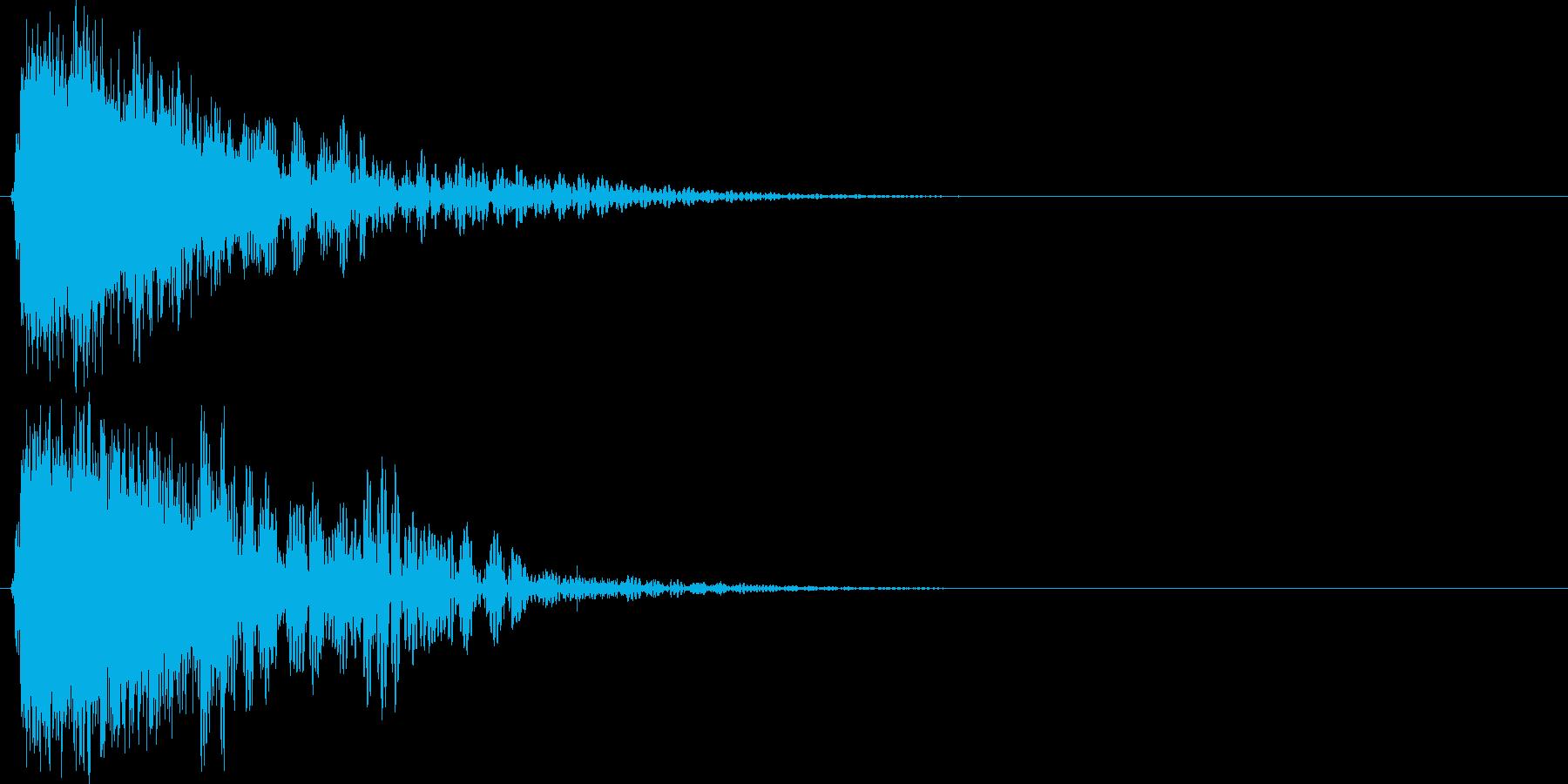 「ガキィーン」派手な衝撃#7の再生済みの波形
