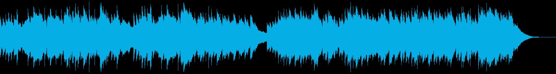 幸福感のあるピアノBGMの再生済みの波形