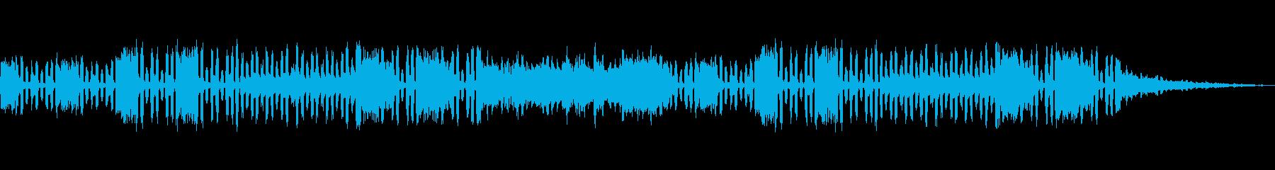 妖しい雰囲気のアコーディオン曲の再生済みの波形