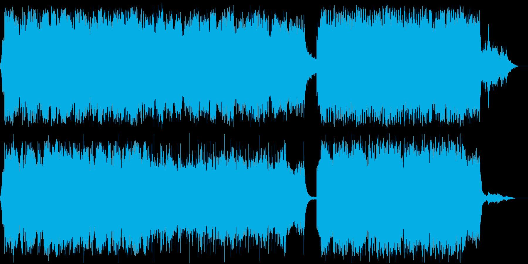 和風で静かな感じのチェロ曲の再生済みの波形