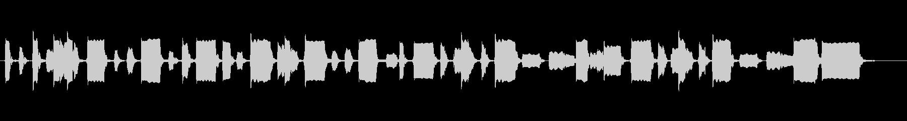リコーダー1本のみで奏でる昭和の子供の未再生の波形