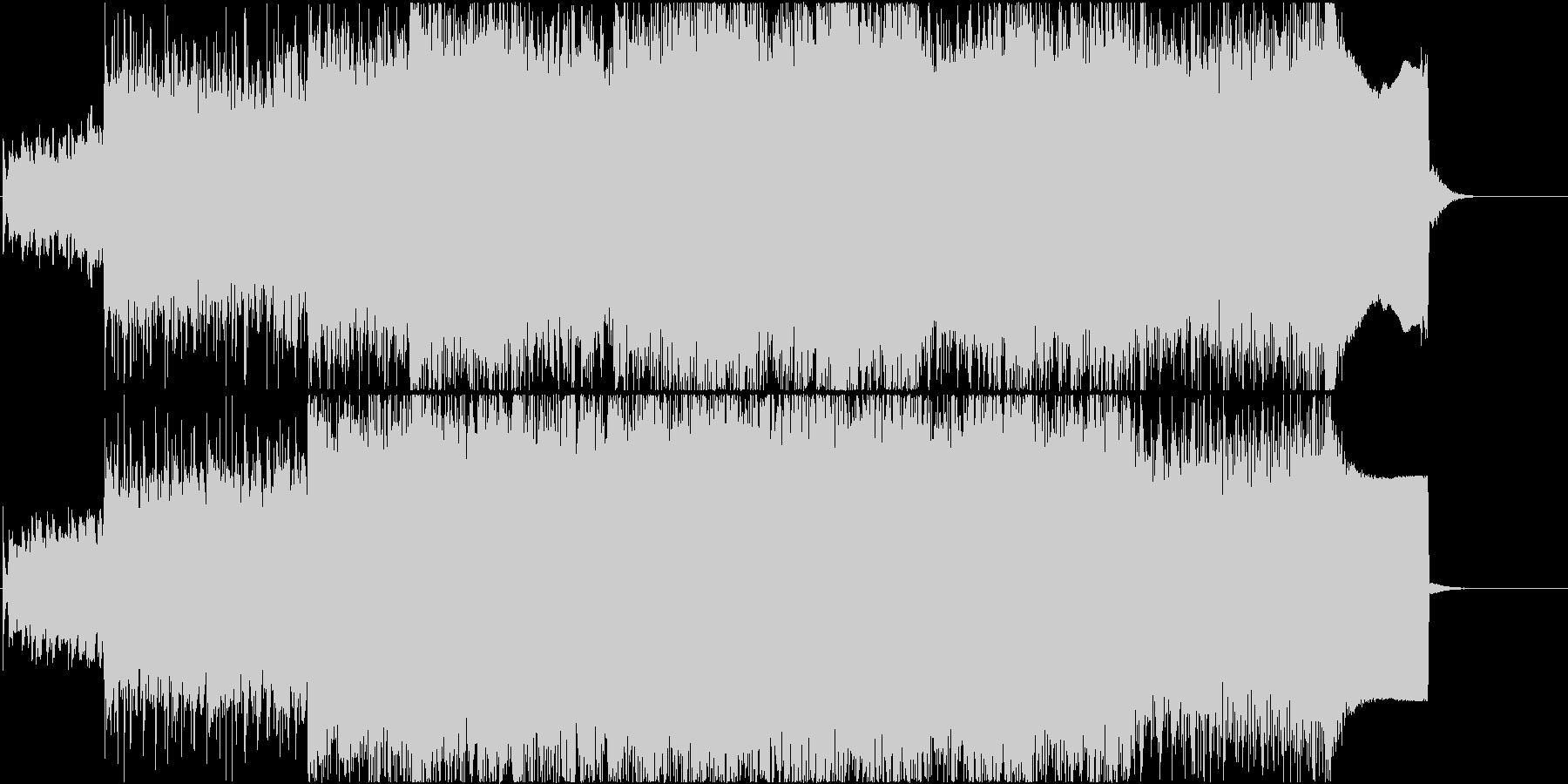 U2 Coldplay的ロック(歌なし)の未再生の波形