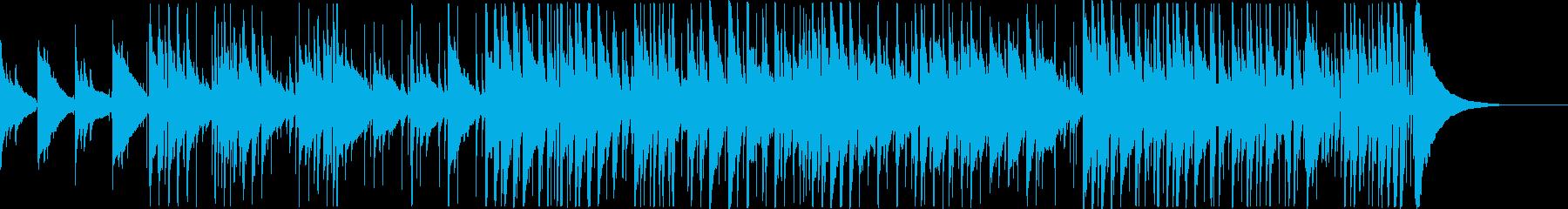 アコースティックギターのゆったりインストの再生済みの波形