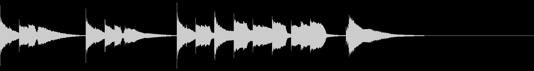 エンディング  E.ピアノソロ 切ないの未再生の波形