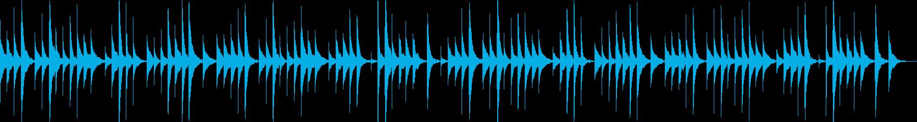 ロンドンデリーの歌のオルゴールアレンジの再生済みの波形
