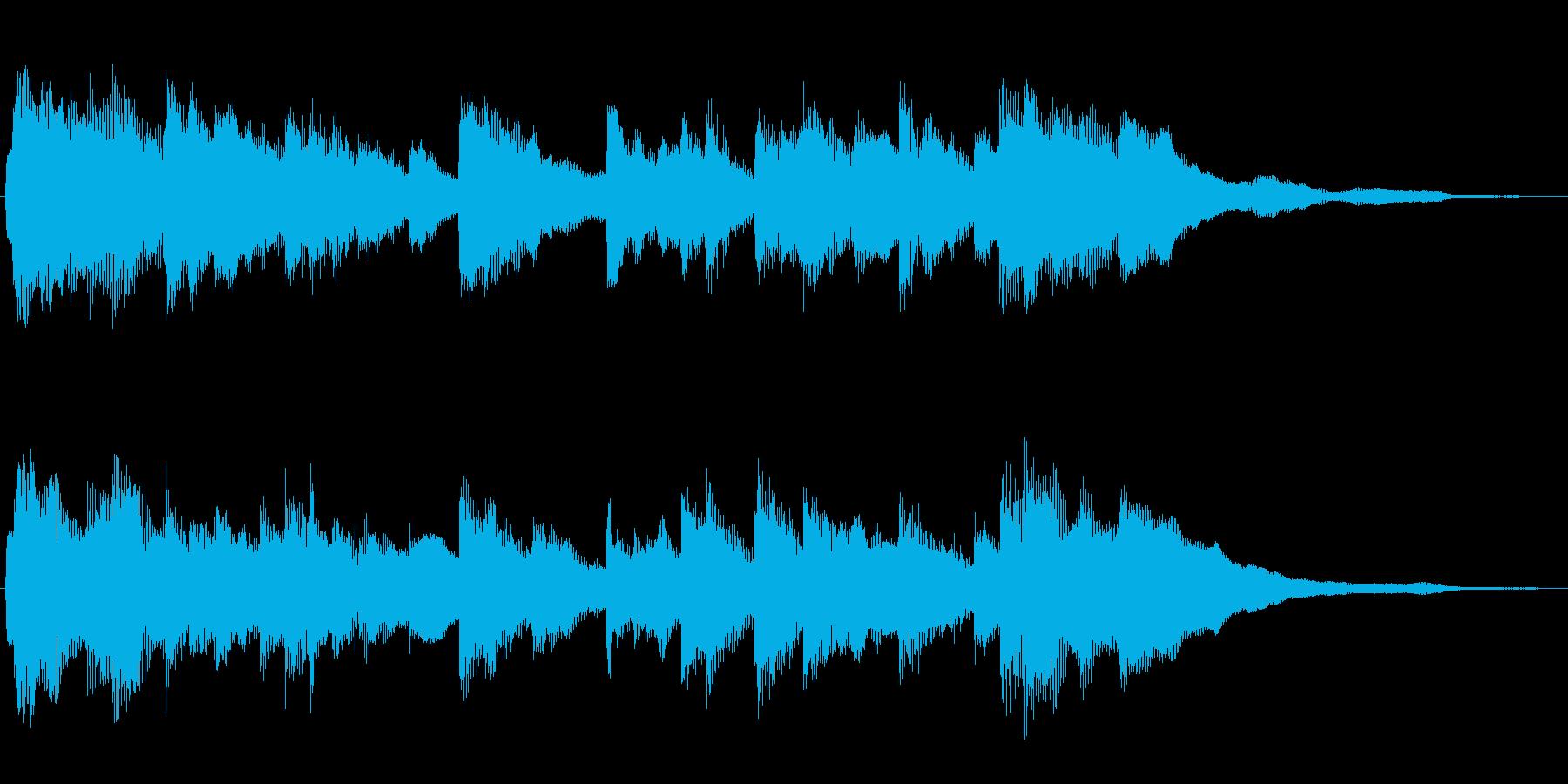 明るく爽やか ピアノのジングル 20秒の再生済みの波形