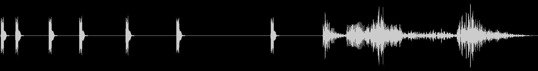 8ビット電子グリッチ:短いシーケンスの未再生の波形