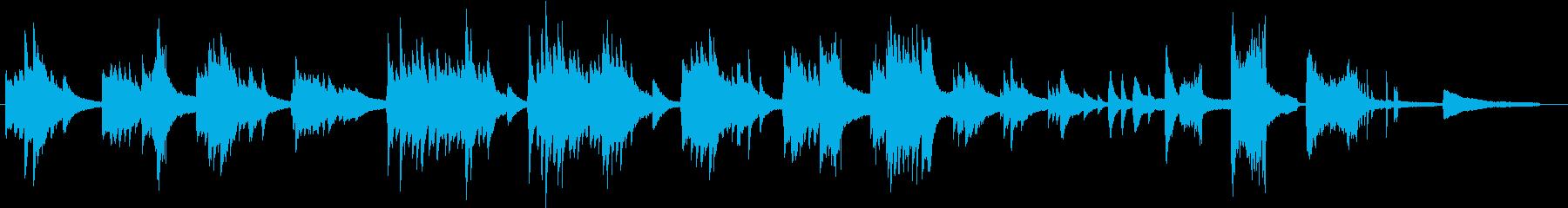 ジャズ風の優しいピアノ曲の再生済みの波形
