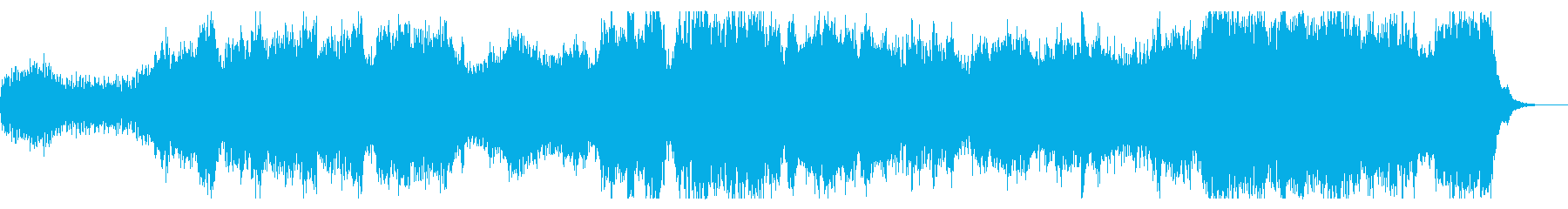 コーラス入りダークでシネマチックなBGMの再生済みの波形