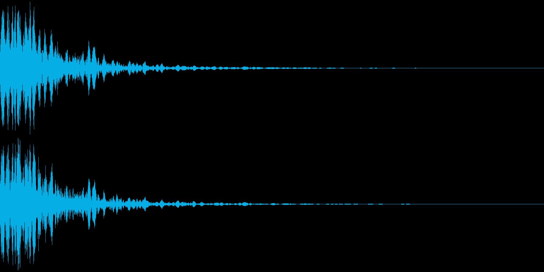 発射音の再生済みの波形