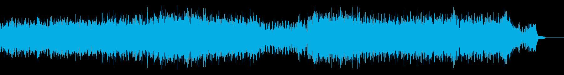 希望に満ち溢れたノれるリズムのピアノの再生済みの波形