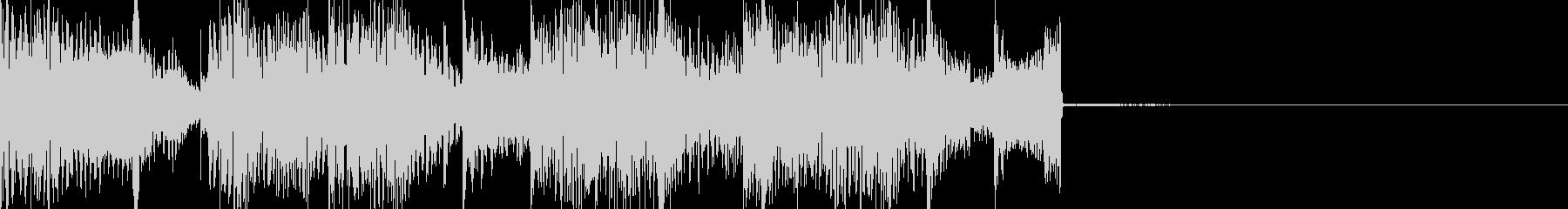 ジャズ風味なアイキャッチ音の未再生の波形