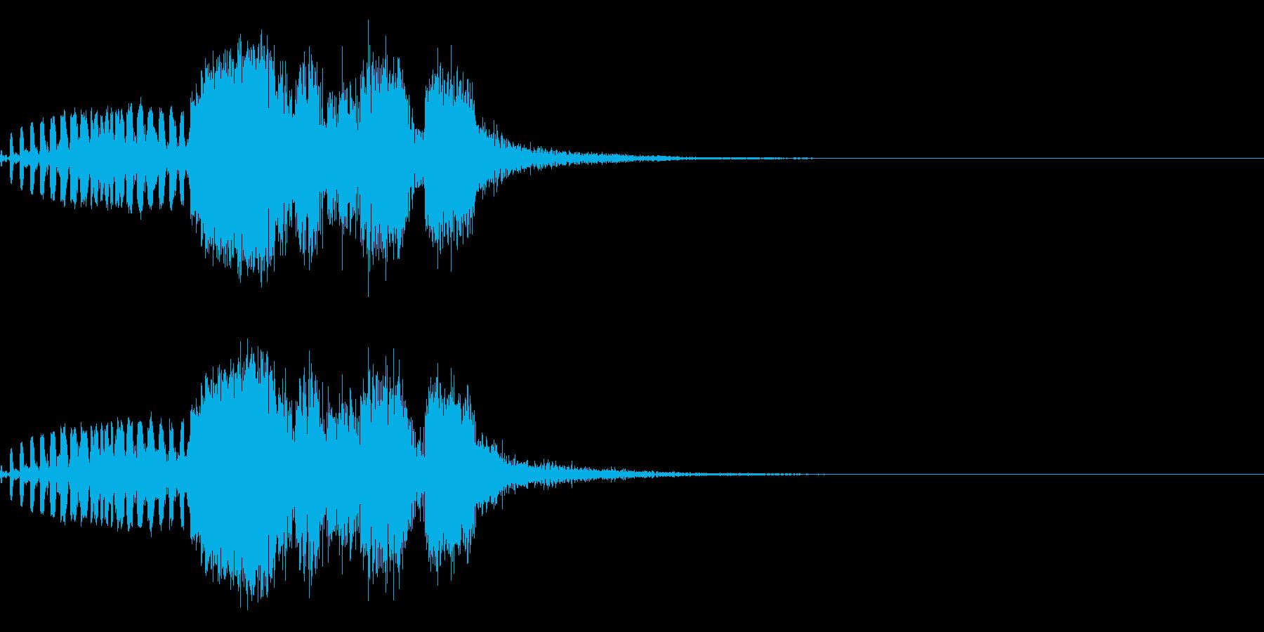 スパーク音-39の再生済みの波形