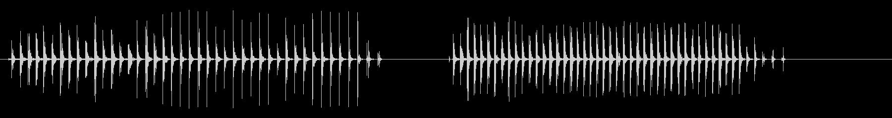 速く歩く木人の未再生の波形
