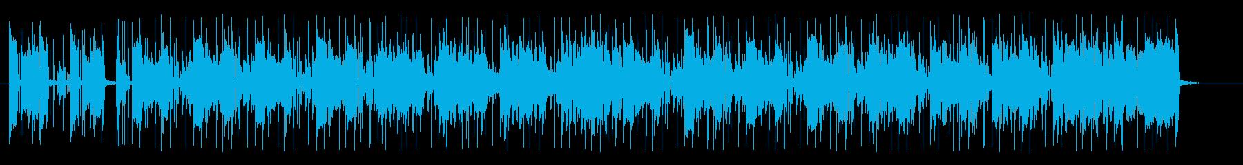 ポップでキャッチ―なシンセサウンドの再生済みの波形