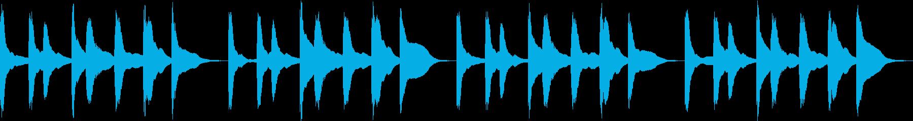 シンプル ベル 着信音 チャイム C15の再生済みの波形
