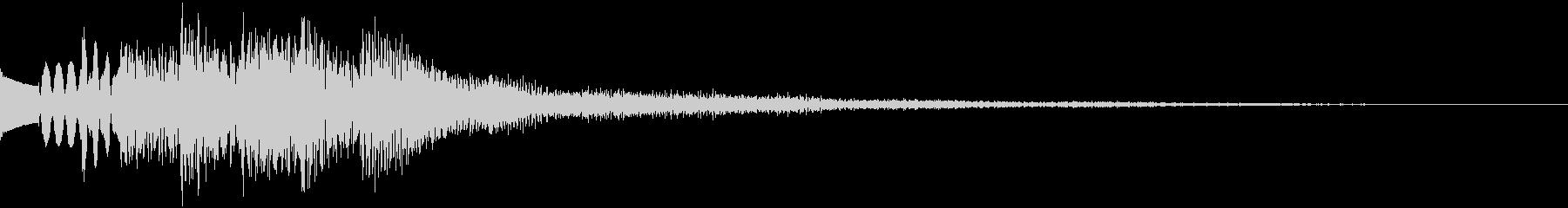 明るく安心感のある完了音の未再生の波形