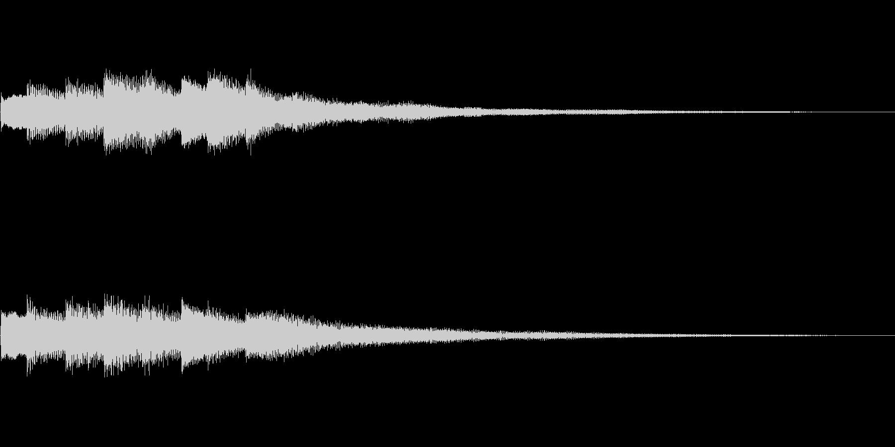 キラリ(ヒント・お知らせ・通知音)の未再生の波形