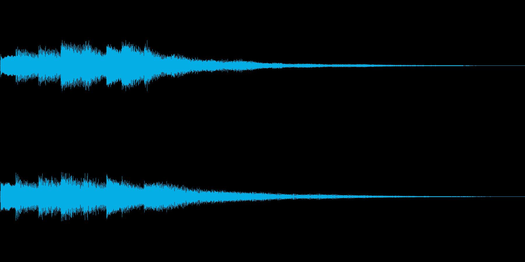 キラリ(ヒント・お知らせ・通知音)の再生済みの波形