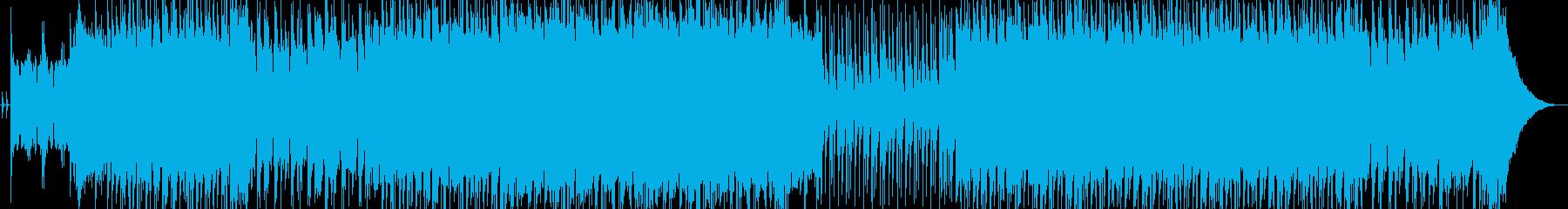 ピアノとバンド演奏の和やかなロック曲の再生済みの波形