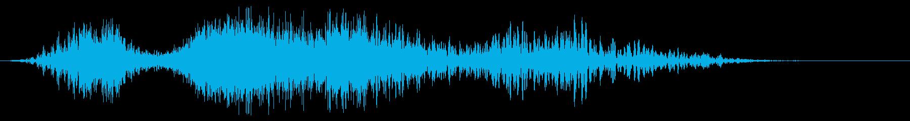 重い爆発力のリップの再生済みの波形