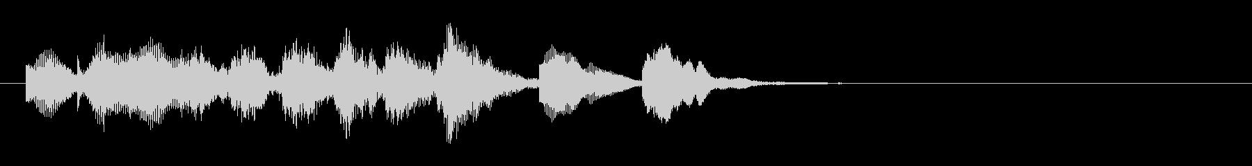 のほほんジングル002_かわいい-3の未再生の波形