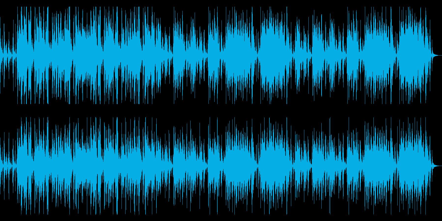 篠笛の明るい和風BGMの再生済みの波形