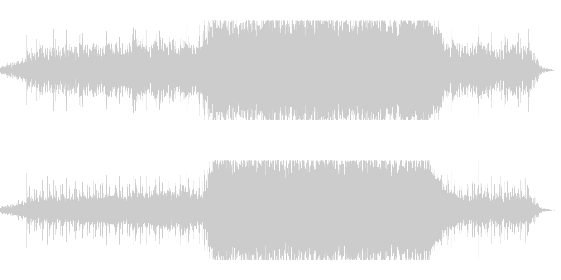 ディレイ・ギターと変拍子のニューロックの未再生の波形