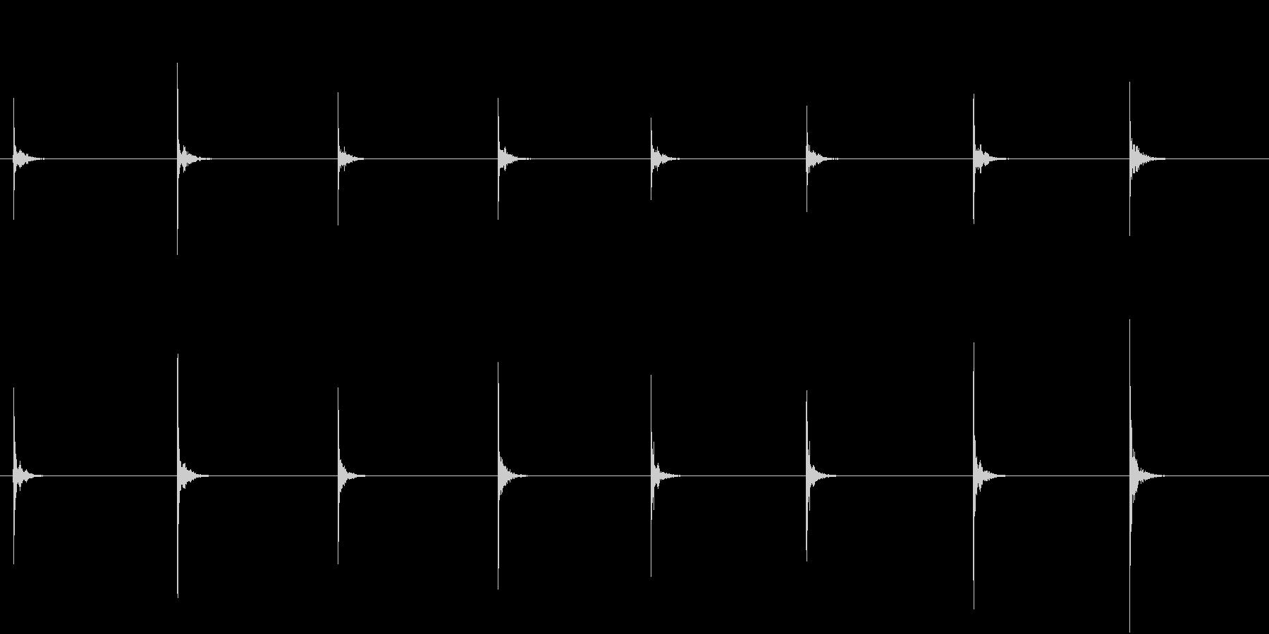 【生録音】お箸の音 3 かき込むの未再生の波形