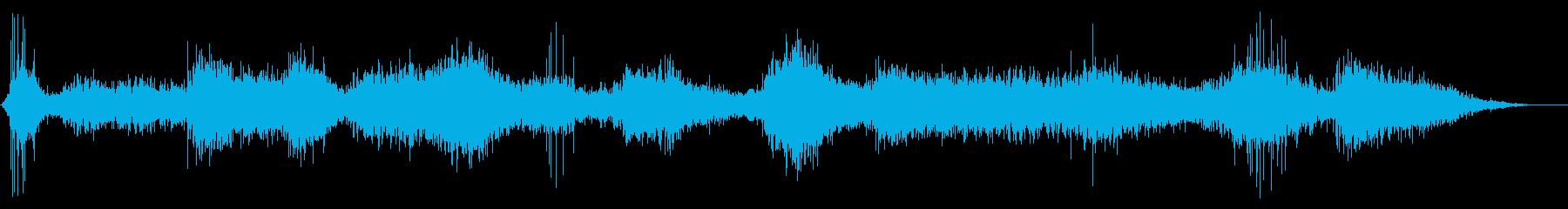 水に落下後、波に呑まれるような音の再生済みの波形