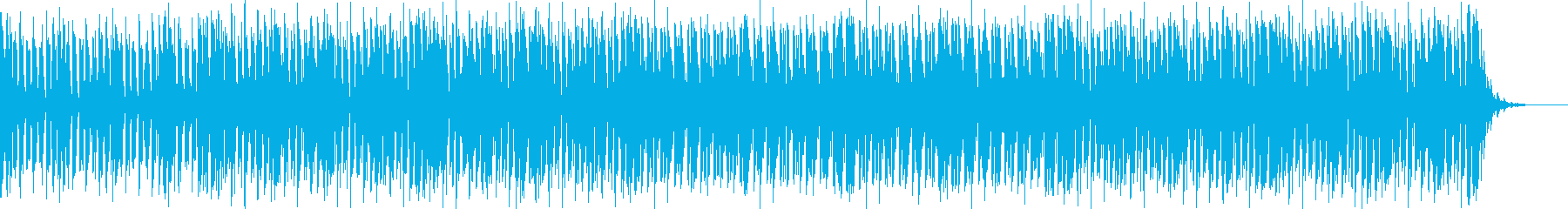 アグレッシブさのある四つ打ちバトル曲の再生済みの波形