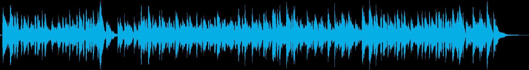 ヒラメをテーマにした楽曲の再生済みの波形