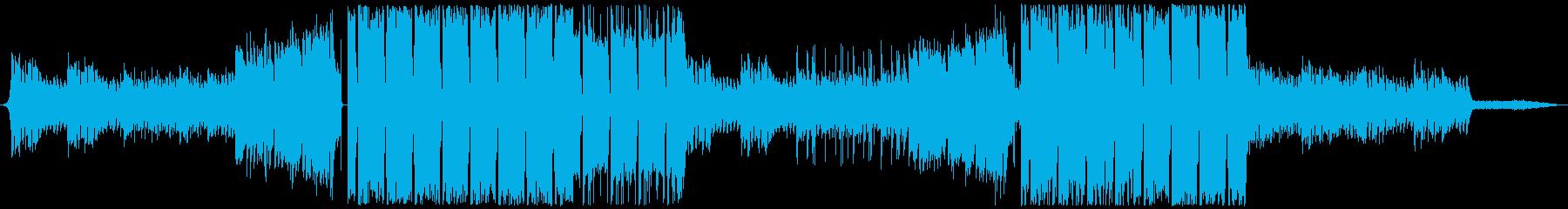 幻想的なFutureBassの再生済みの波形