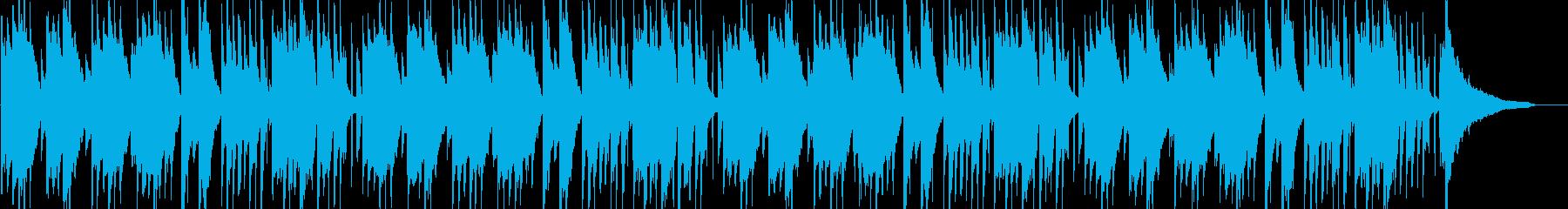 子守唄的な、落ち着くループ曲の再生済みの波形
