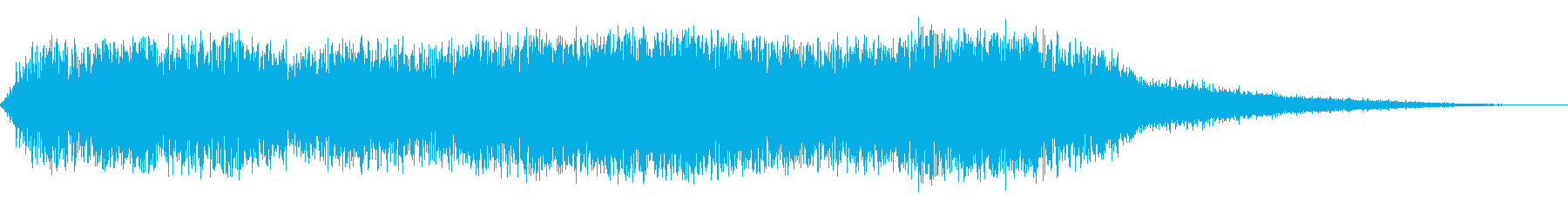 乱気流騒音の再生済みの波形
