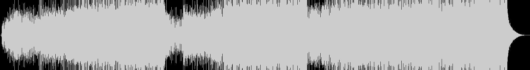 朝、爽やか高揚感のあるオープニングEDMの未再生の波形