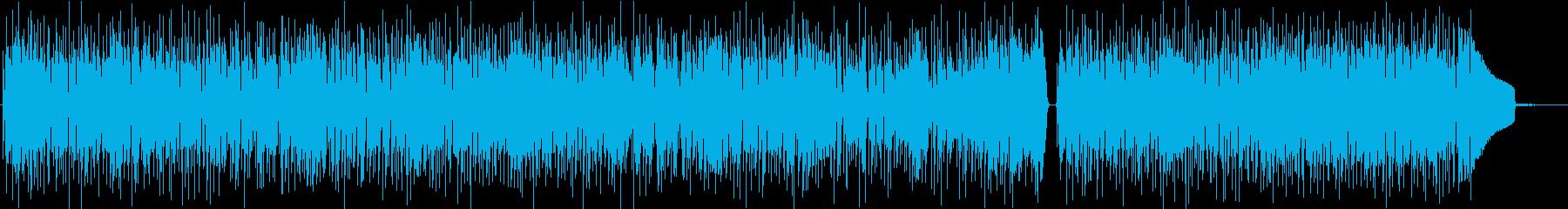 疾走感ある超絶技巧風ベーススラップBGMの再生済みの波形