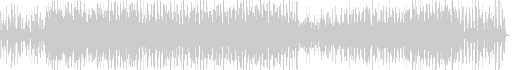 淡々としたサンバBGMの未再生の波形