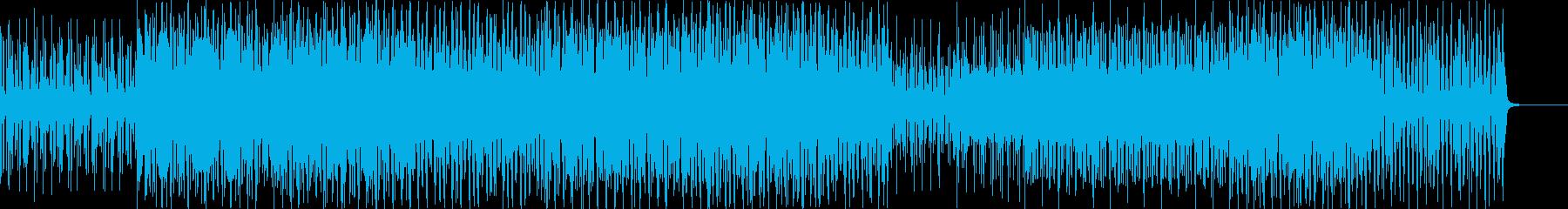 淡々としたサンバBGMの再生済みの波形