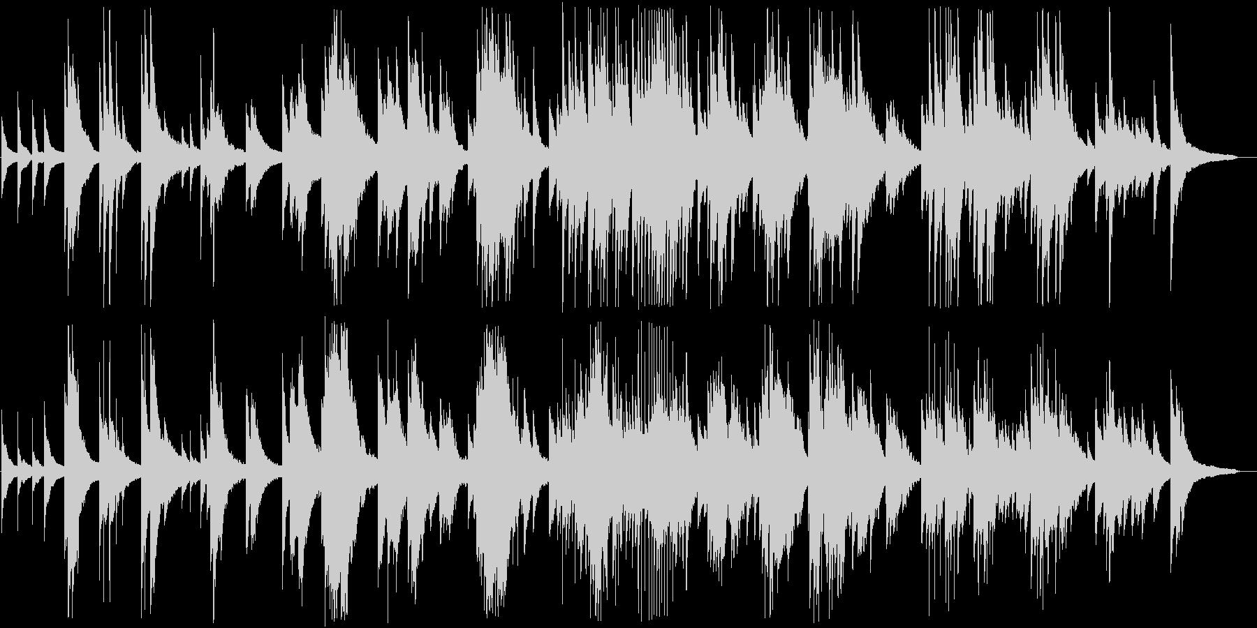 ピアノの調べが美しいクラシックの未再生の波形