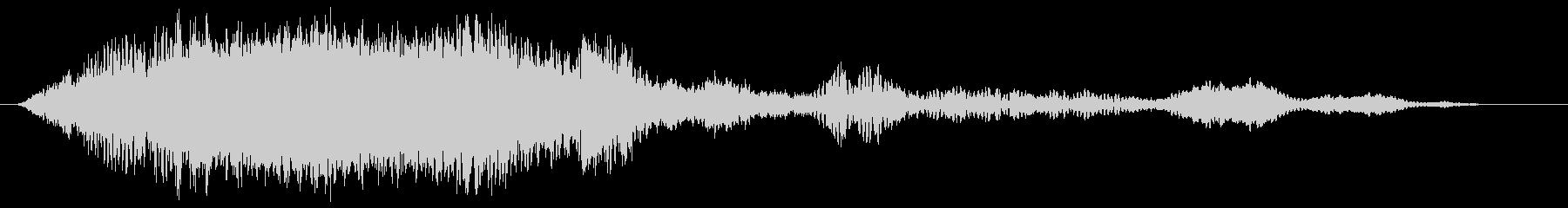 綺麗な幻想的宇宙サウンド/企業ロゴの未再生の波形