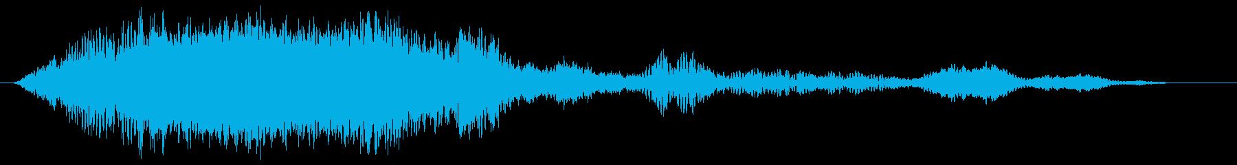 綺麗な幻想的宇宙サウンド/企業ロゴの再生済みの波形