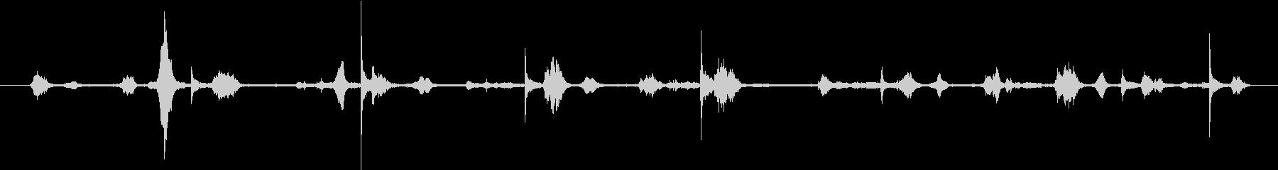 小さなきしむ手クランクホイール:旋...の未再生の波形